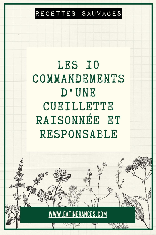 10 commandements cueillette